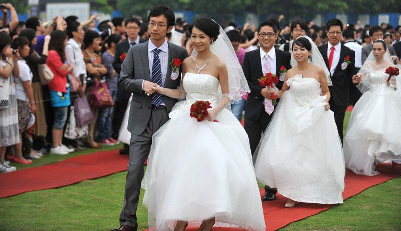 浙江大学举行校友集体婚礼