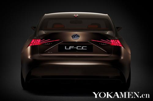 雷克萨斯lf-cc车尾照; 2012款雷克萨斯lf-cc概念车; 确认量产 或定名