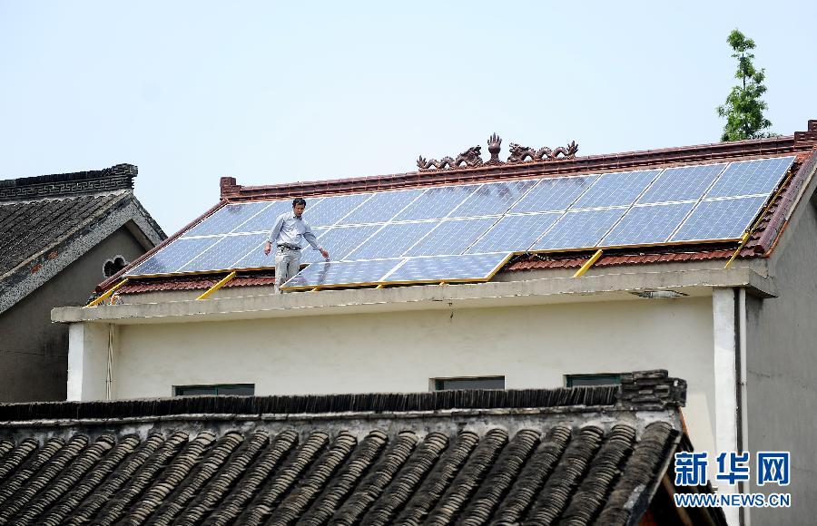 扬州首个居民分布式屋顶光伏电站正式并网
