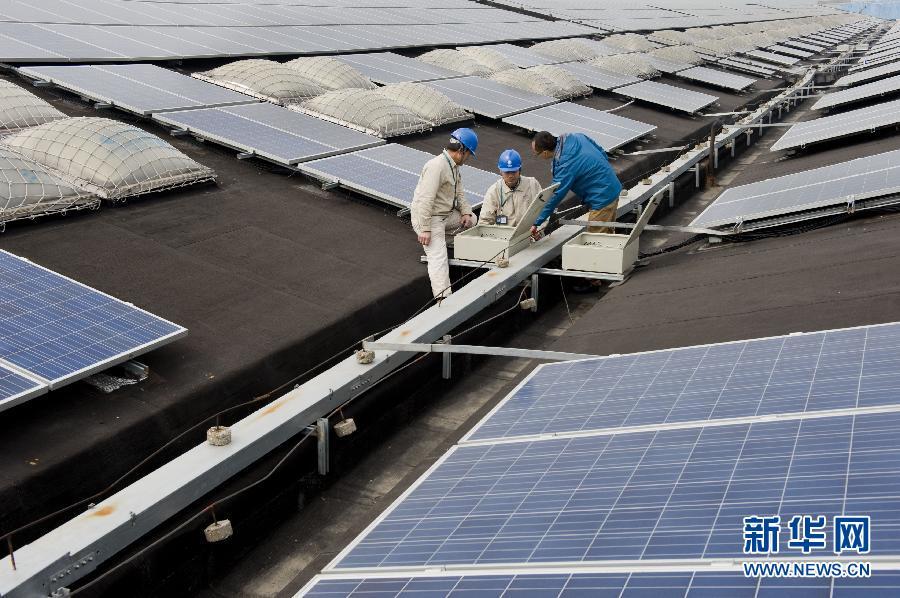 宜兴大型屋顶光伏电站并网成功