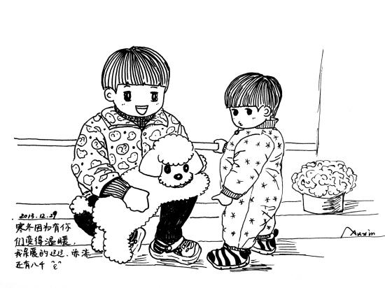 有爱!台州80后妈妈手绘漫画记录孩子点滴成长