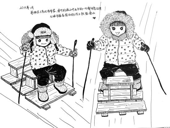台州80后妈妈手绘漫画记录孩子点滴成长