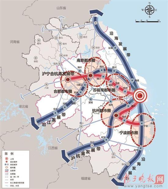 长三角城市群规划:南京定位为特大城市 苏州为