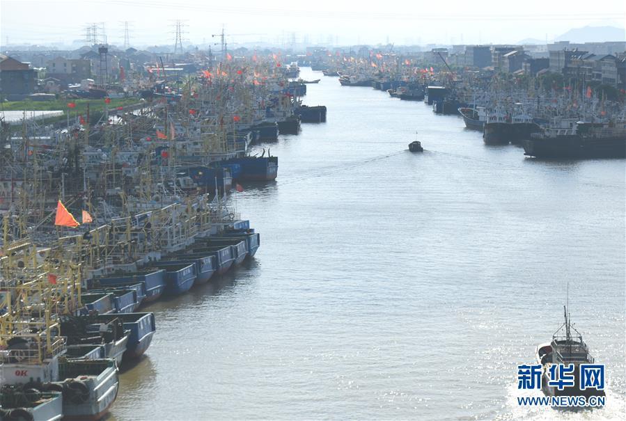 #(社会)(2)浙江台州渔船回港避风