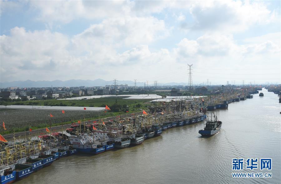 #(社会)(3)浙江台州渔船回港避风