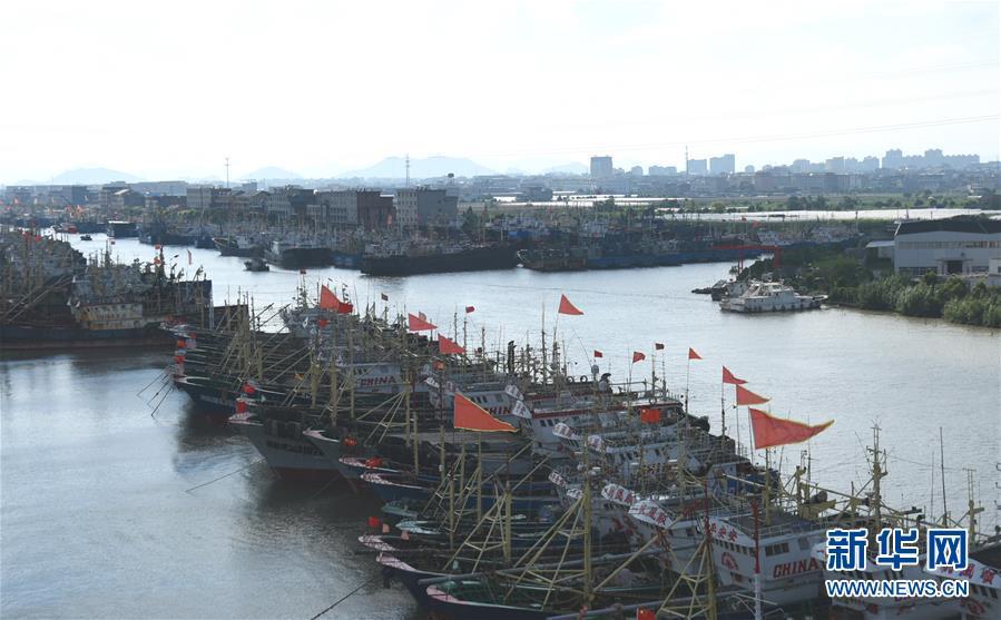 #(社会)(5)浙江台州渔船回港避风