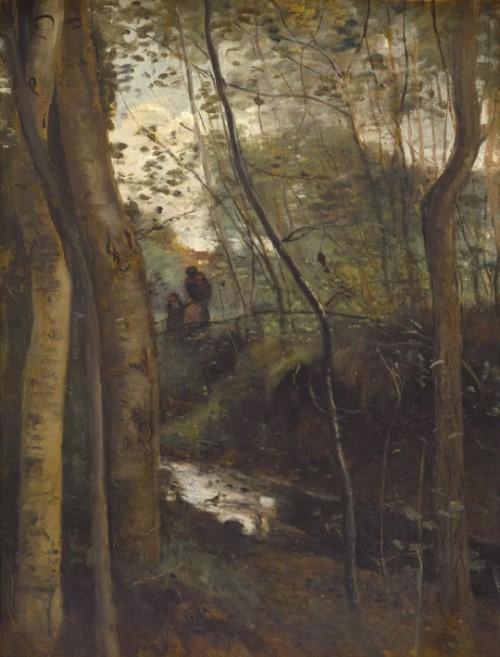 展示新古典主义大师安格尔,写实主义风景画家柯罗,印象派的代表人物
