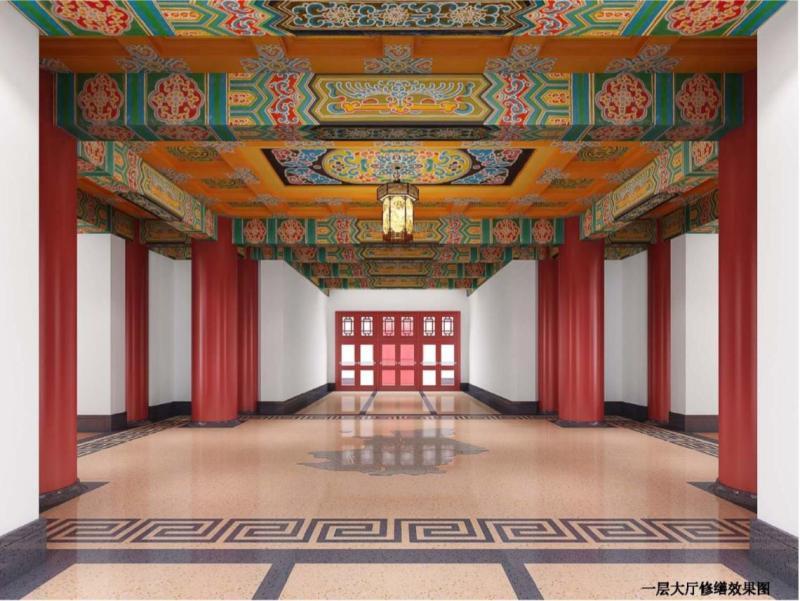 仿古宫殿设计的绿瓦大楼今年将与上海市民见面