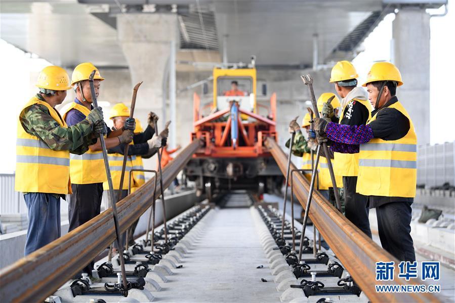 (經濟)(1)商合杭鐵路(合肥至蕪湖段)右線鋪軌即將貫通