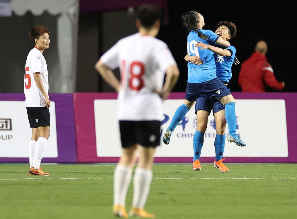 全運會足球女子成年組:江蘇隊戰勝遼寧隊