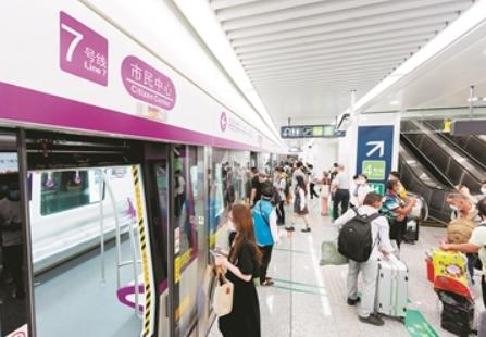 杭州地鐵7號線市民中心站17日開通