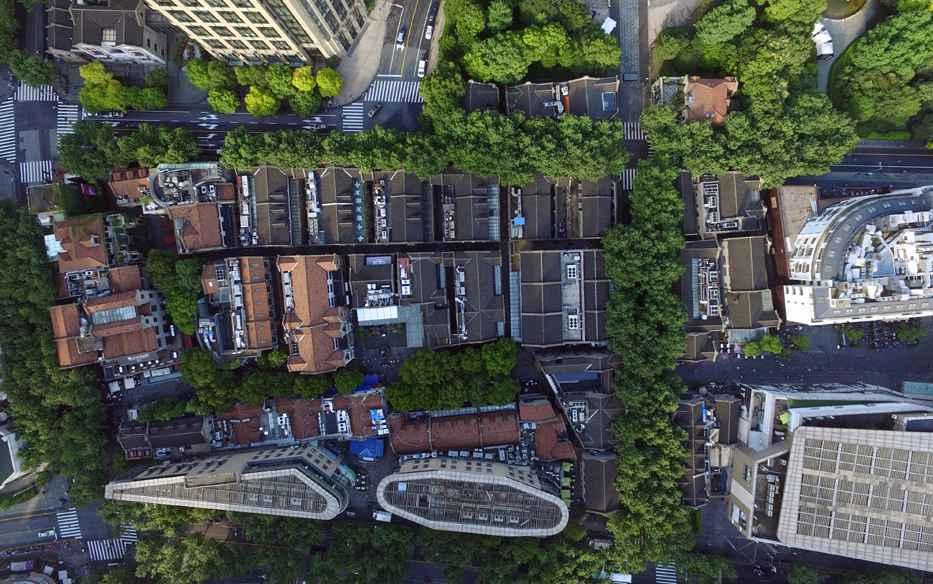 溯源红色起点 鸟瞰上海三座党代会会址遗迹