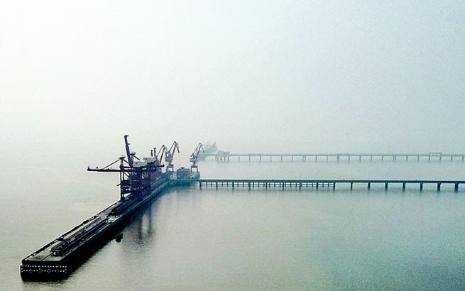 """【""""飞阅""""中国】航拍盐城大丰港 """"水上巴士""""在此启航"""
