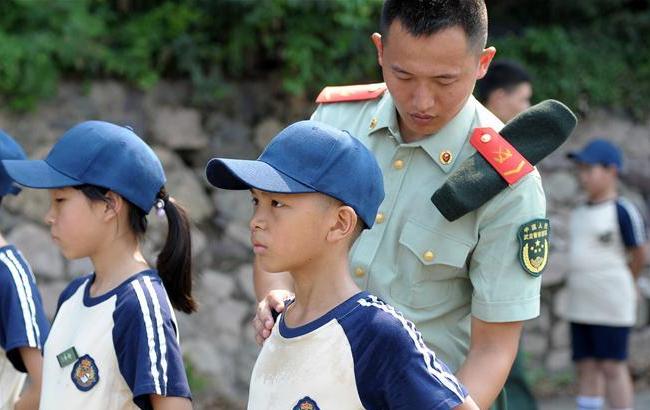 浙江舟山:军事夏令营开营