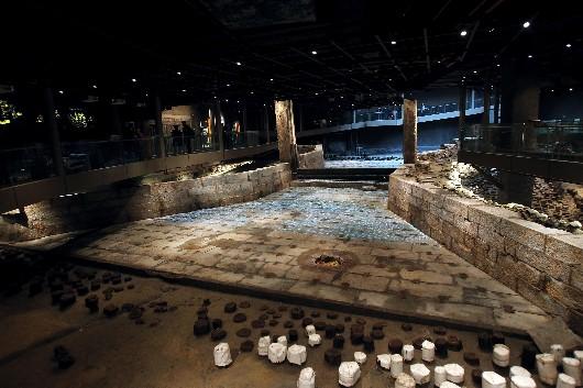 元代水闸遗址博物馆 透露700年前上海河道变迁史