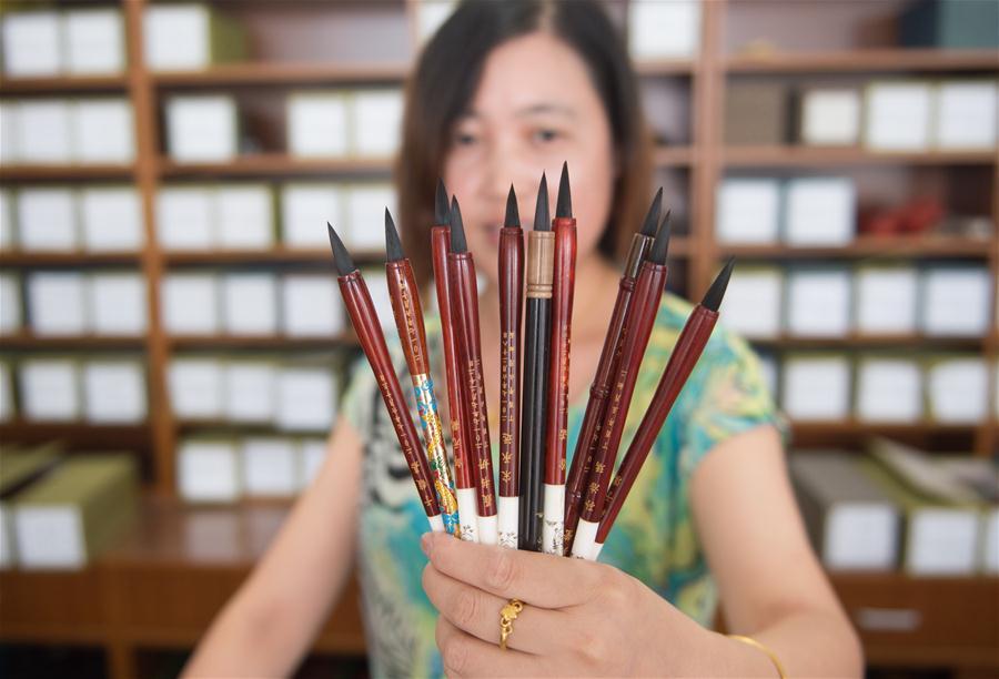 传统湖笔工艺为新生命留下记忆