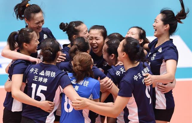 排球——女子成年组:江苏夺冠