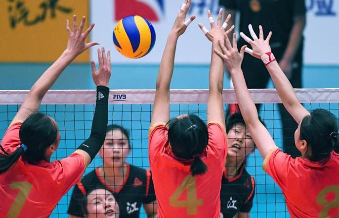 排球——U21女子排球小组赛:上海胜浙江