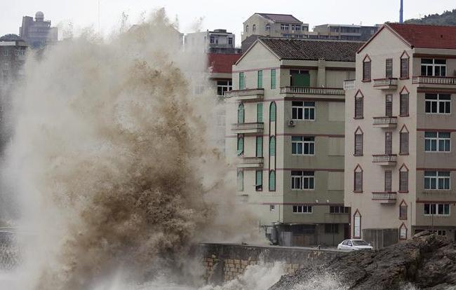 """受""""泰利""""影响浙江沿海出现8-11级大风"""