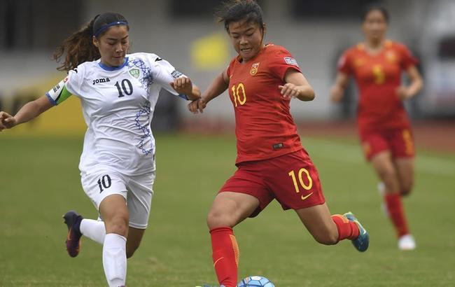 亚足联U19女足锦标赛:中国胜乌兹别克斯坦