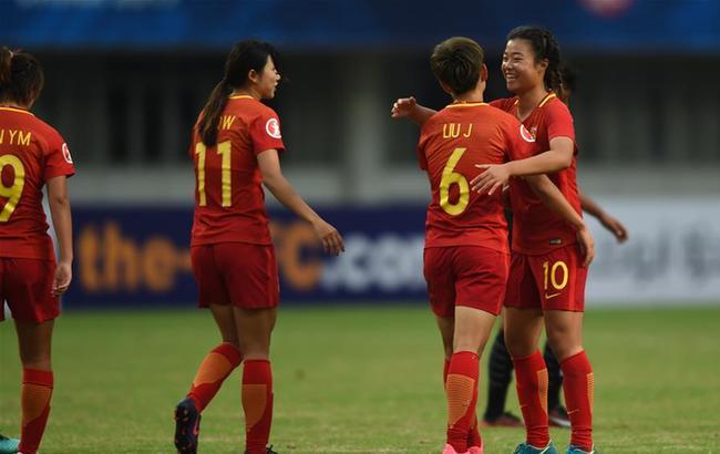 亚足联U19女足锦标赛:中国胜泰国