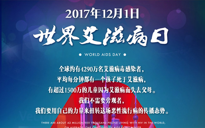 2017年12月1日:世界艾滋病日