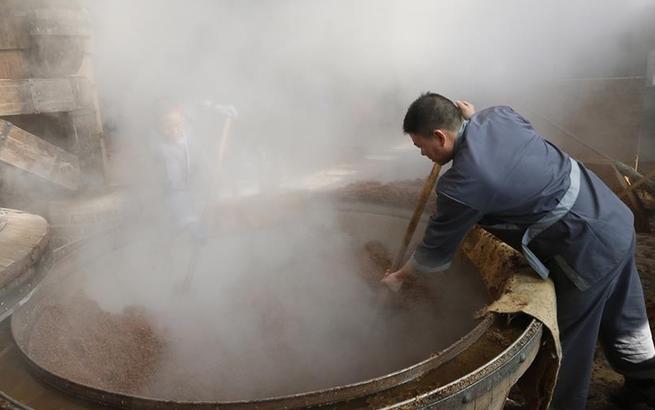 江苏泗洪:寒冬时节酒香浓
