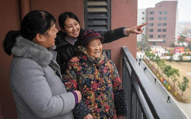 安徽合肥:新年迁新房