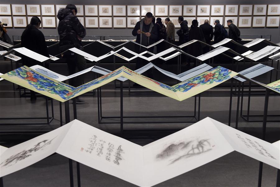 中国水印版画大展在杭州开幕
