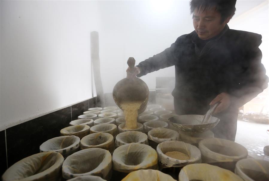 """安徽黄山:""""腊八豆腐""""香飘腊八"""