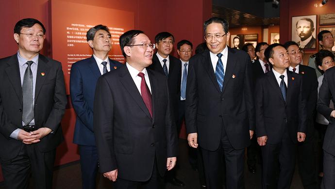 李强陪同安徽省委常委集体瞻仰中共一大会址