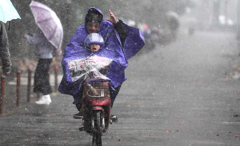 杭州迎初雪