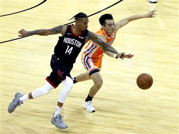 NBA季前赛:休斯敦火箭胜上海大鲨鱼