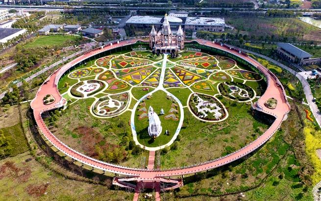 花已开 春意温暖 上海浦江郊野公园恢复开放