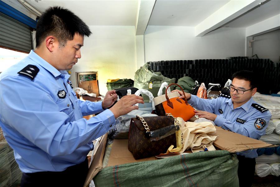 上海警方侦破一起假冒注册商标案
